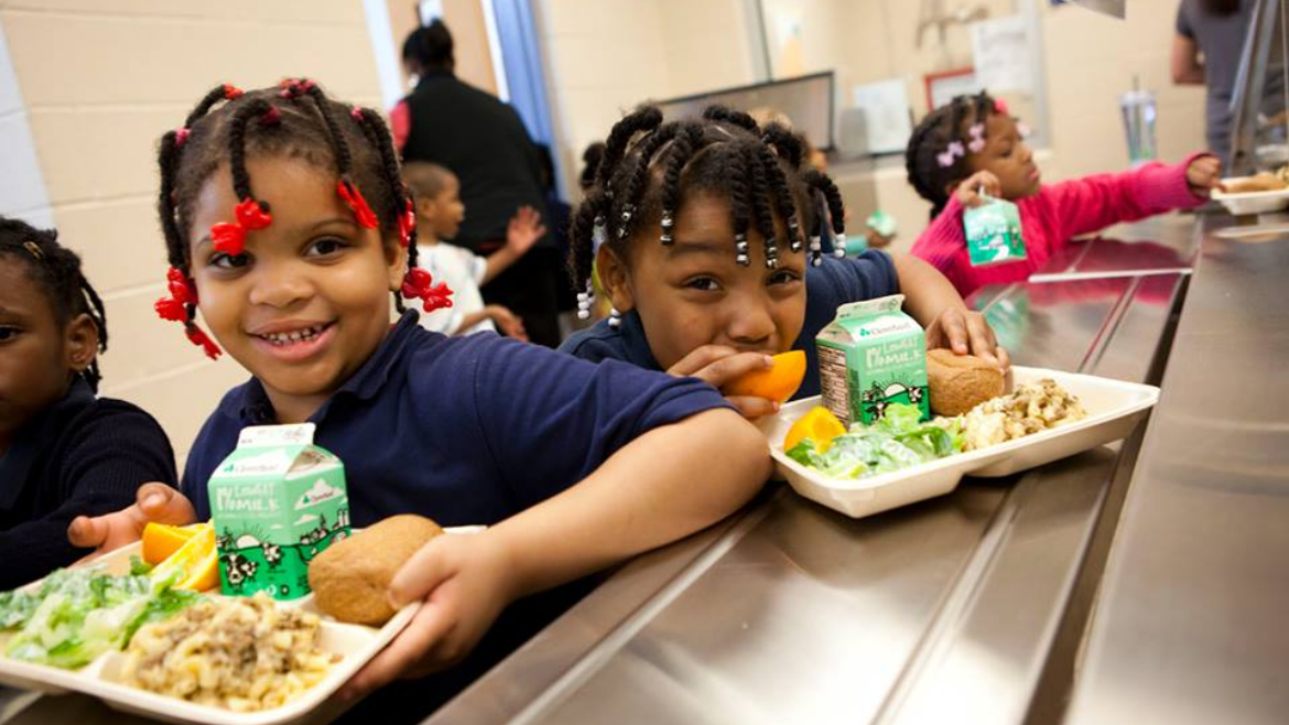 DC Central Kitchen youth getting lunch